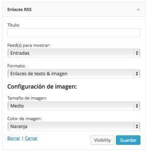 Widgets - Enlaces RSS