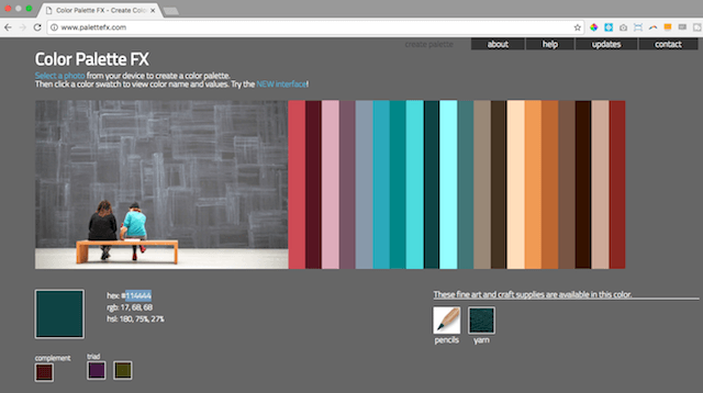 crear paleta de color a partir de una foto